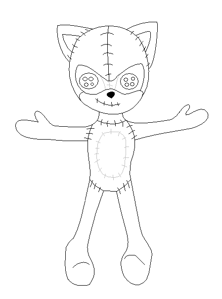 how to draw a wooden doll base