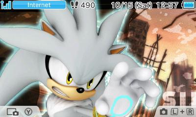 Nintendo 3DS Theme: Silver the Hedgehog by GothNebula