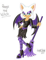 Werehog's Roommate: Rouge the Witch by GothNebula