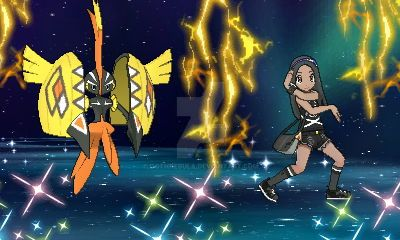 Pokemon Ultra Moon: Me and Tapu Koko by GothNebula