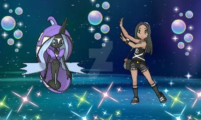 Pokemon Ultra Moon: Me and Tapu Fini by GothNebula