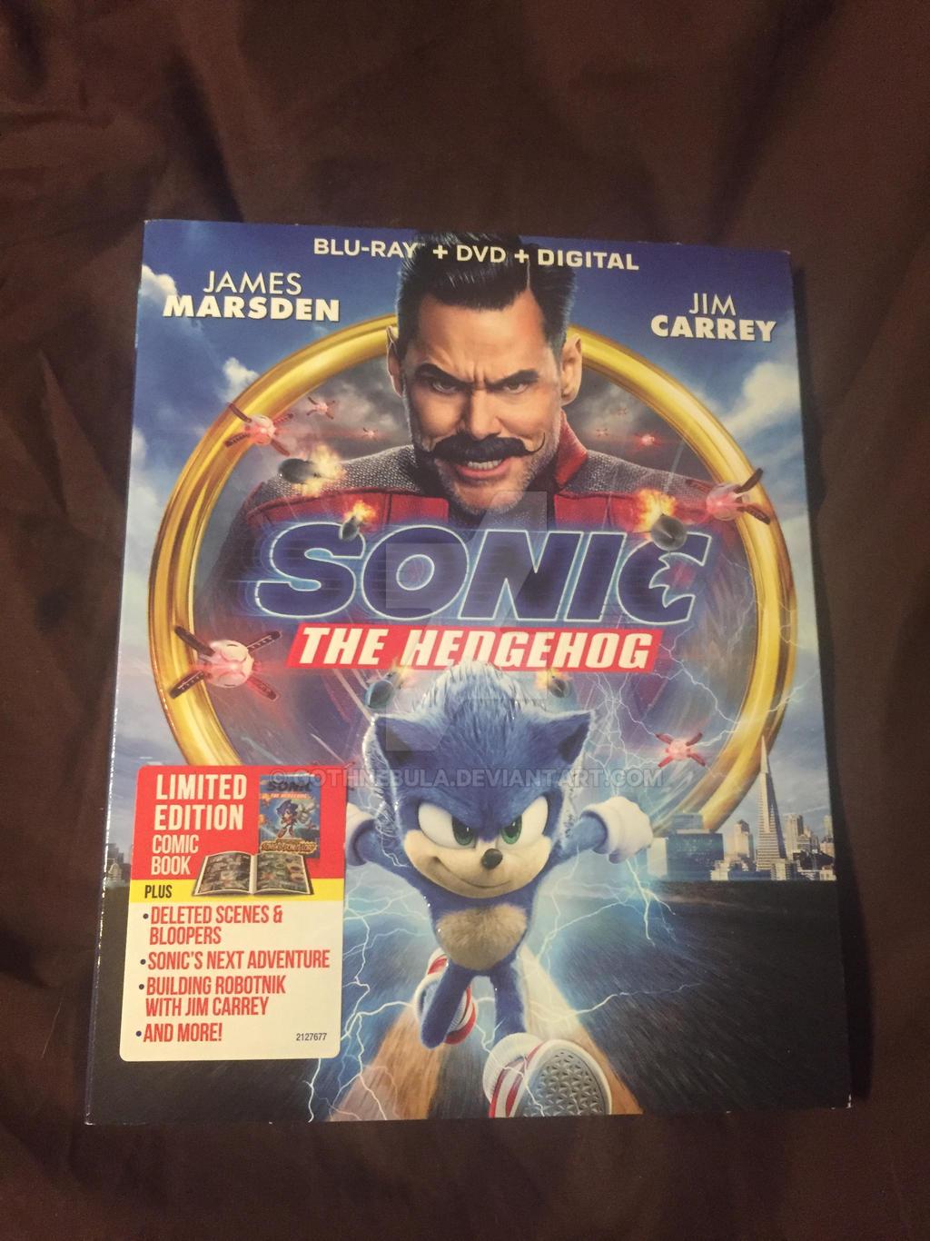 Sonic The Hedgehog Blu Ray Dvd By Gothnebula On Deviantart