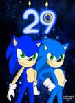 Happy 29th Birthday Sonic the Hedgehog by GothNebula