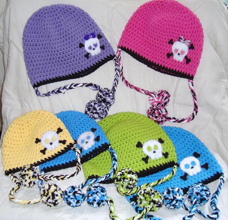 Crochet Skull N Crossbones Hat By Clauster4 On Deviantart