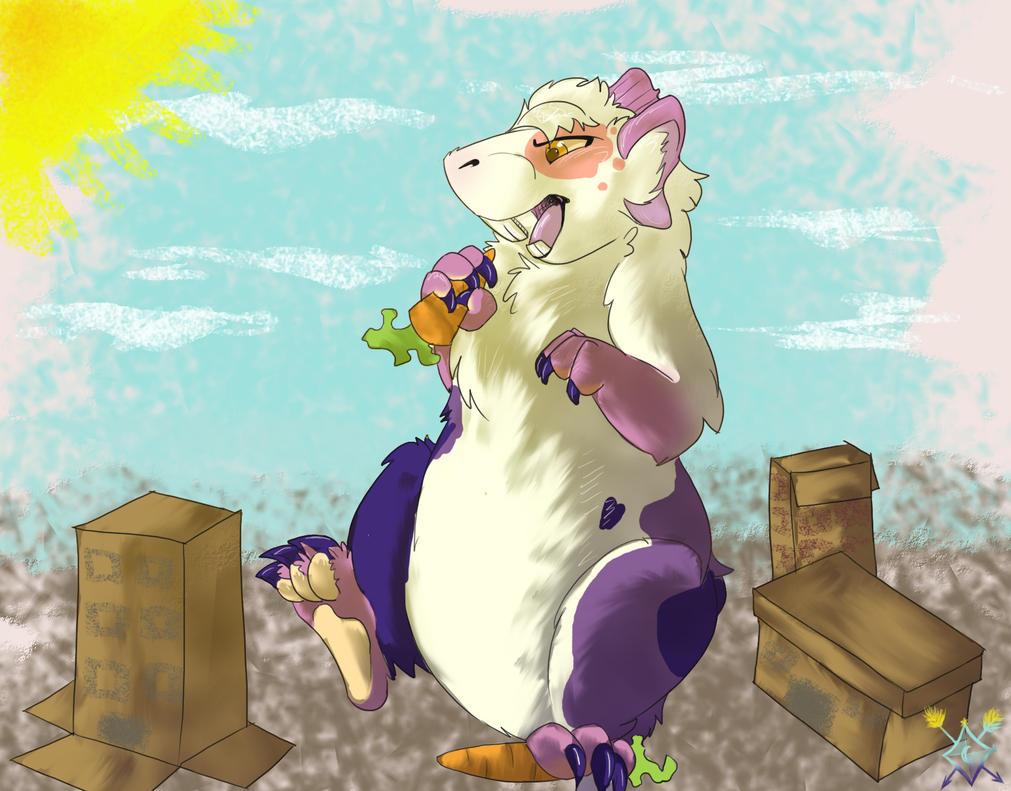 Pigzilla:O by Ashroxxxsocks