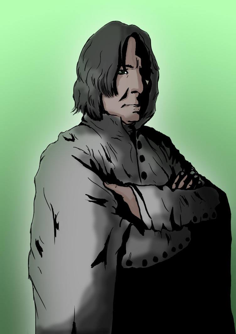 Snape colored by MANGAfan0001