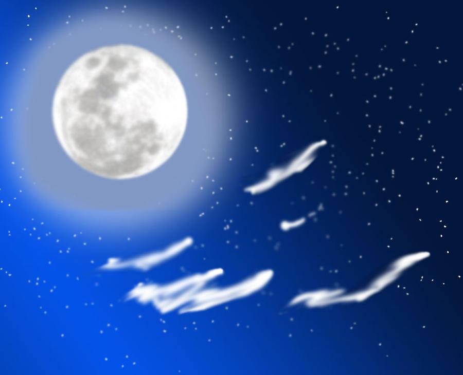 List of Synonyms and Antonyms of the Word: night sky cartoon background