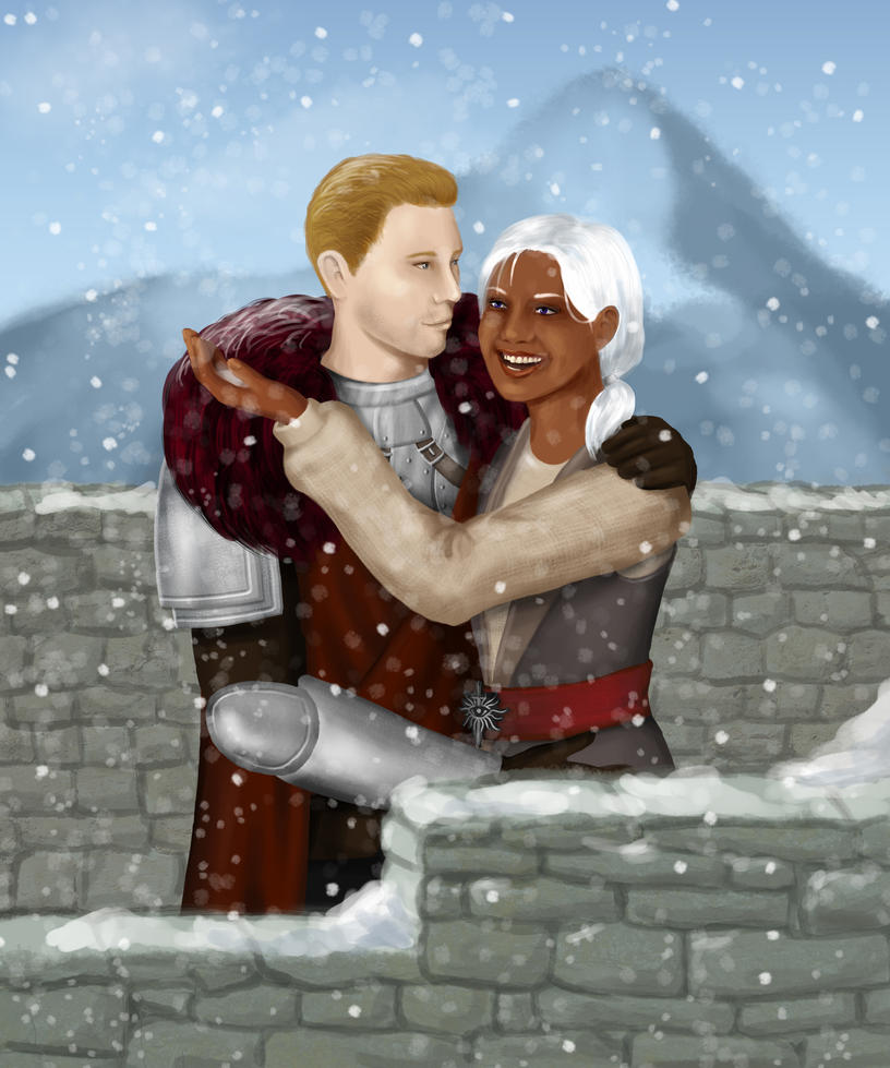 Skyhold's First Snow by thefontbandit