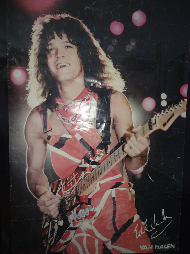 Eddie Van Halen Poster By Shadowdragon5150 On Deviantart