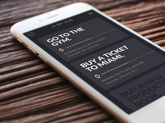 To-Do app for iPhone design by deepdesign