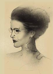 Procreate Woman Apple Pencil by deepdesign