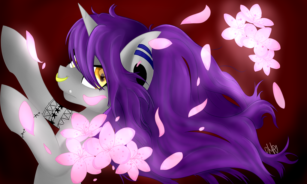 Ambit and Cherry Blossoms by ChromaDraws