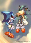 Metal Sonic meets Fran by AdeLeanis