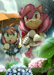Smile in the rain by AdeLeanis