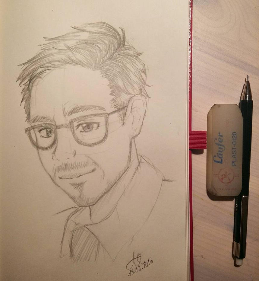 Late night sketch - Robert Downey Jr. by Nyancatextreme
