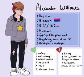Alexander Willows - Reference Sheet