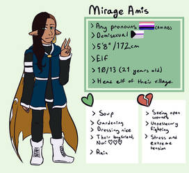 Mirage Amis - Reference Sheet