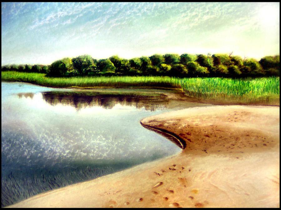 Landscape in pastel by sepultur60