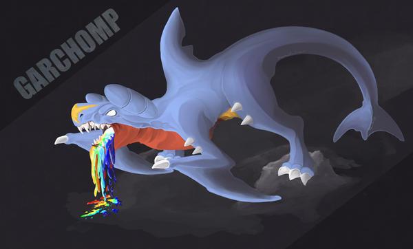 Garchomp After sketch/finished by NeyokoChalimar