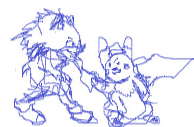 (doodlMovie Sonic and detective pikachu hold hands