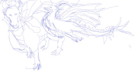 milbert the dragon sketches 1