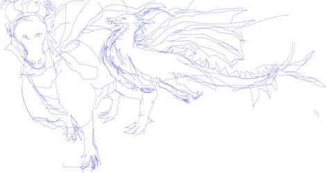 milbert the dragon sketches 1