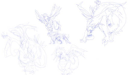 milbert the dragon sketches 2