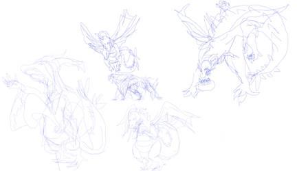 milbert the dragon sketches 2
