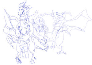milbert the dragon sketches 3