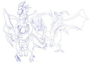 milbert the dragon sketches 3