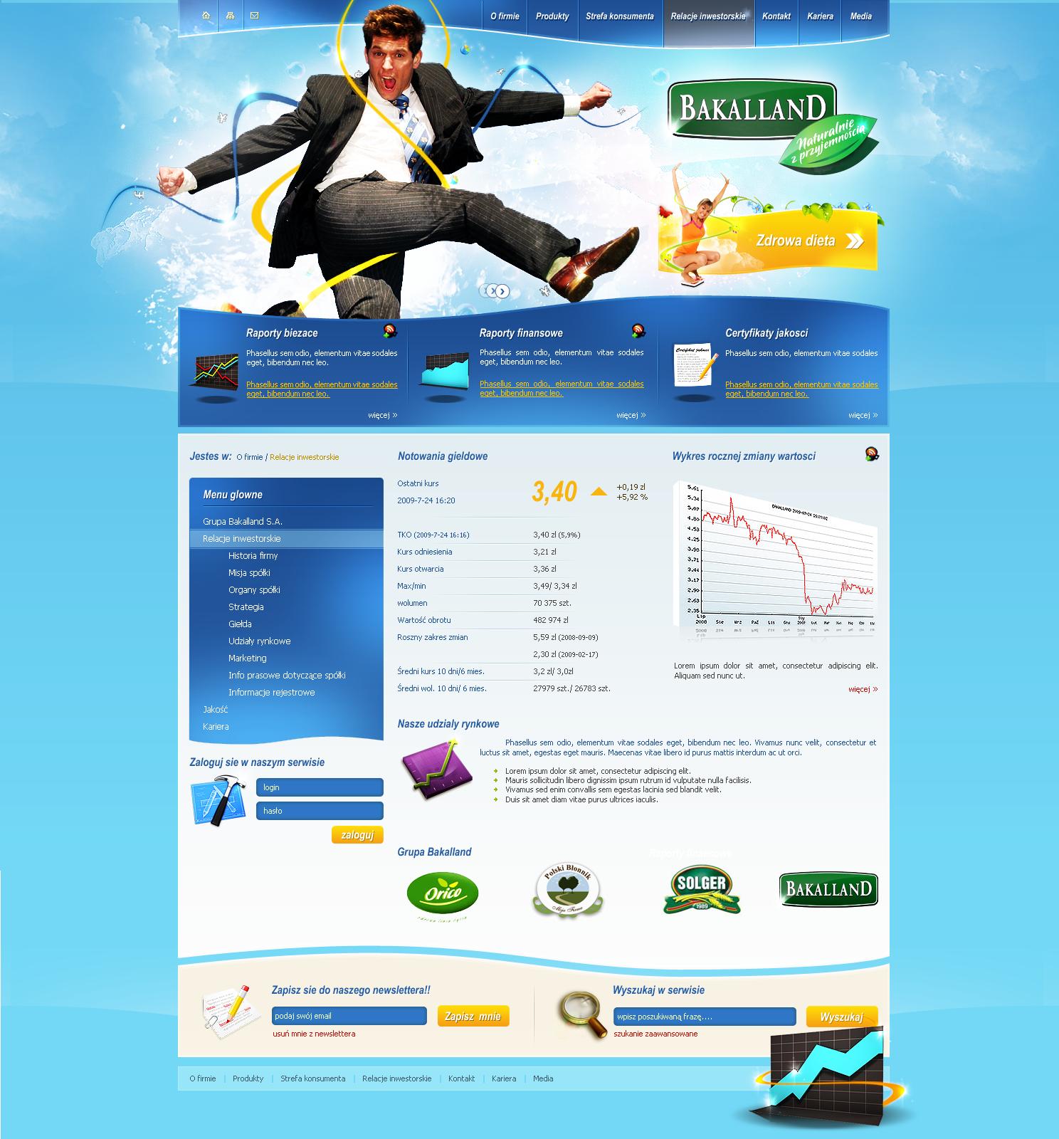 bakalland  business site by t3t5uo