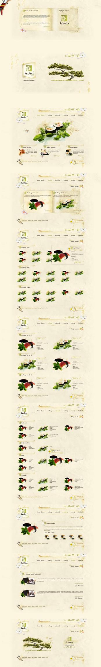 haiku sushi websites by t3t5uo