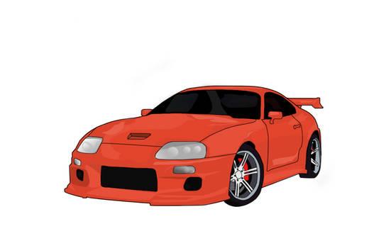 Toyota Supra Vector