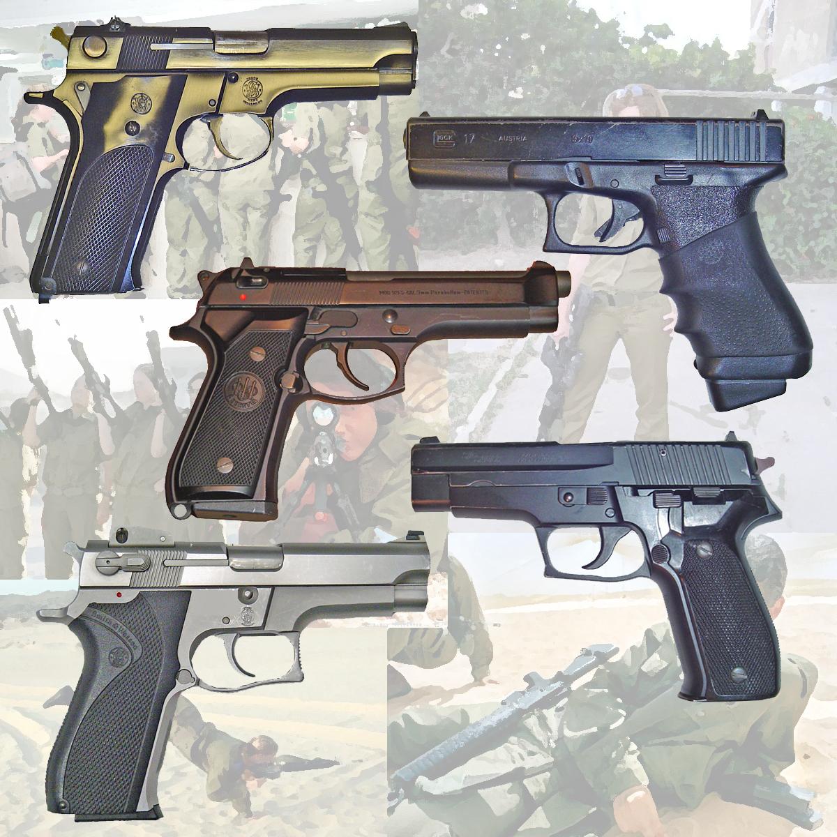 9mm Handguns by AbbyNormL