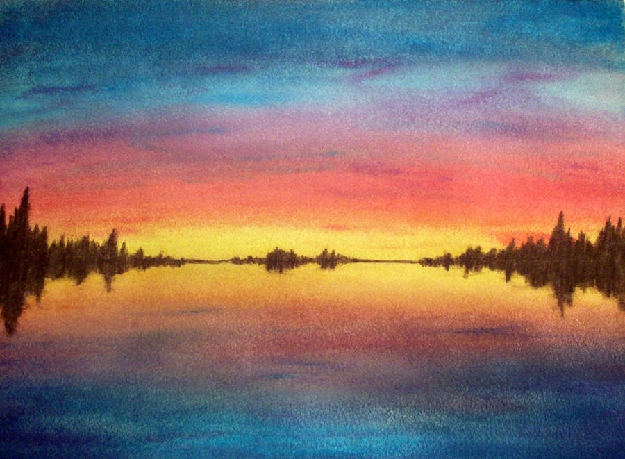 Sunset in Watercolor by cordria on DeviantArt