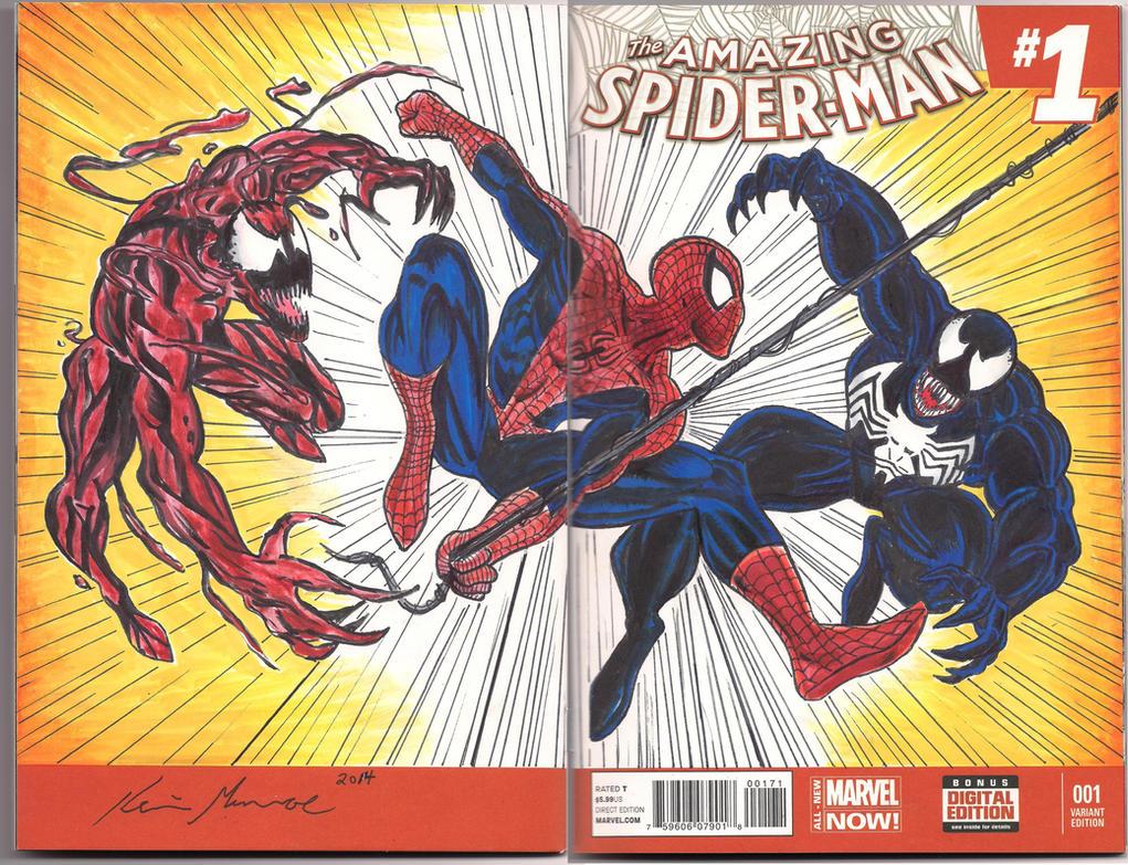 Carnage vs venom vs spiderman vs antivenom