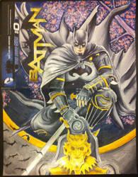 Ninja Batman comic cover sketch/painting by kevinsunfiremunroe