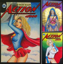 3 new sketch covers DC Action Comics #1000 by kevinsunfiremunroe