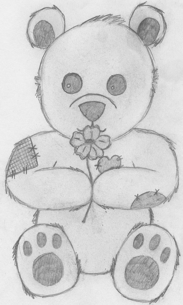 Teddy bear love drawings