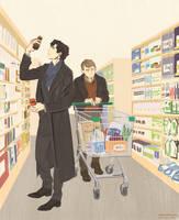 Sherlock + John : shopping by beautiful-burnout