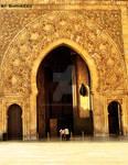People vs building,mosque door