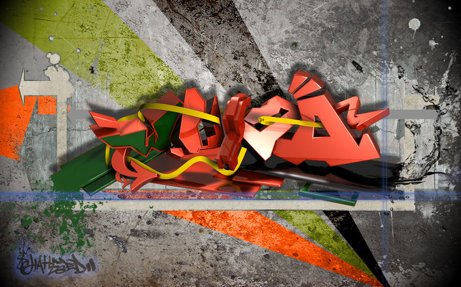 Wujda Graffiti 3D by shaheeed