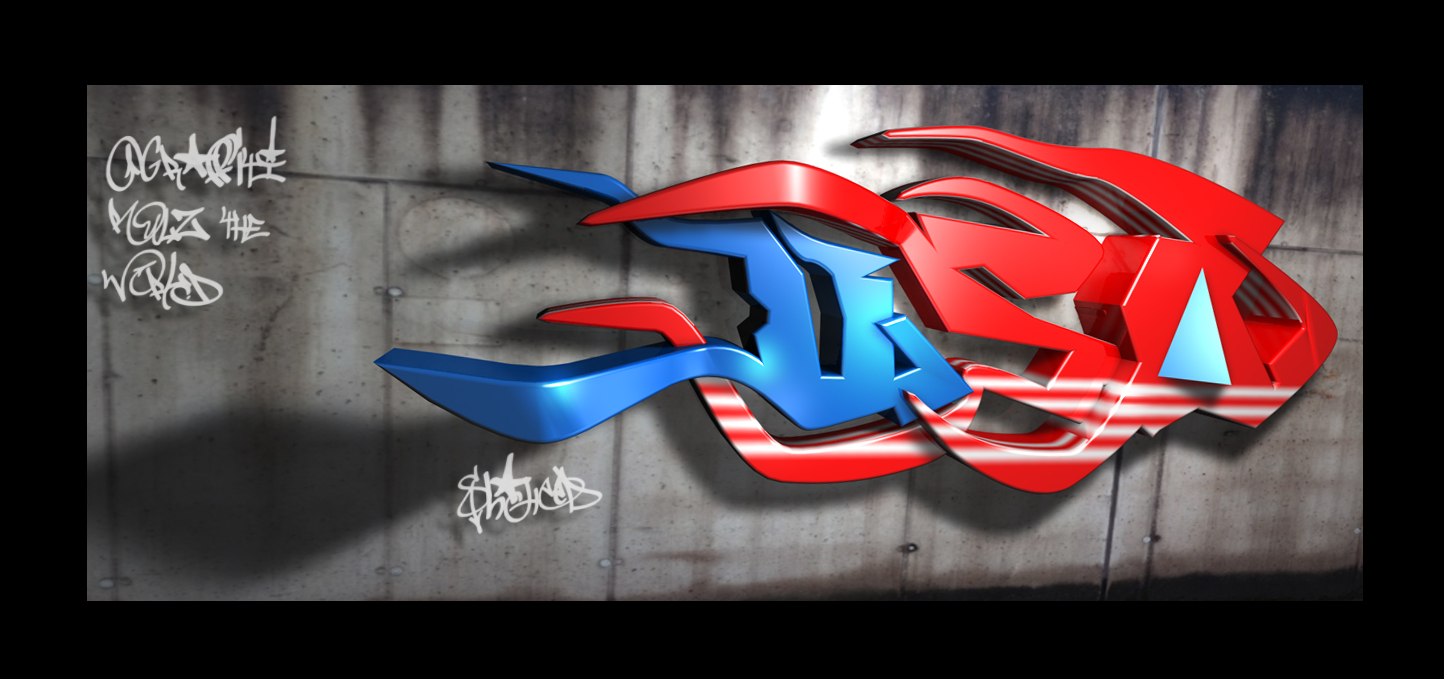 USA 3D Graffiti by shaheeed USA 3D Graffiti by shaheeed