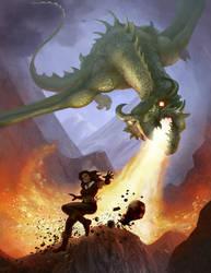 Dragon Attack by Chris-Garrett