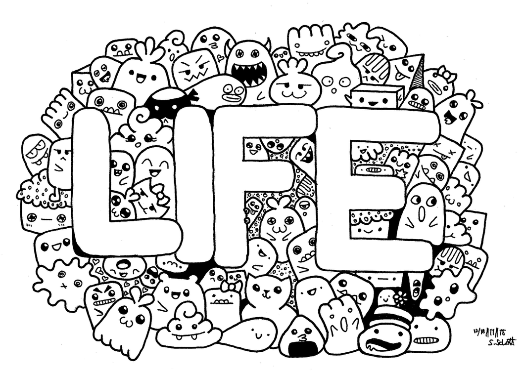 Life doodle Inspired By PicCandle Sabrina1522 On