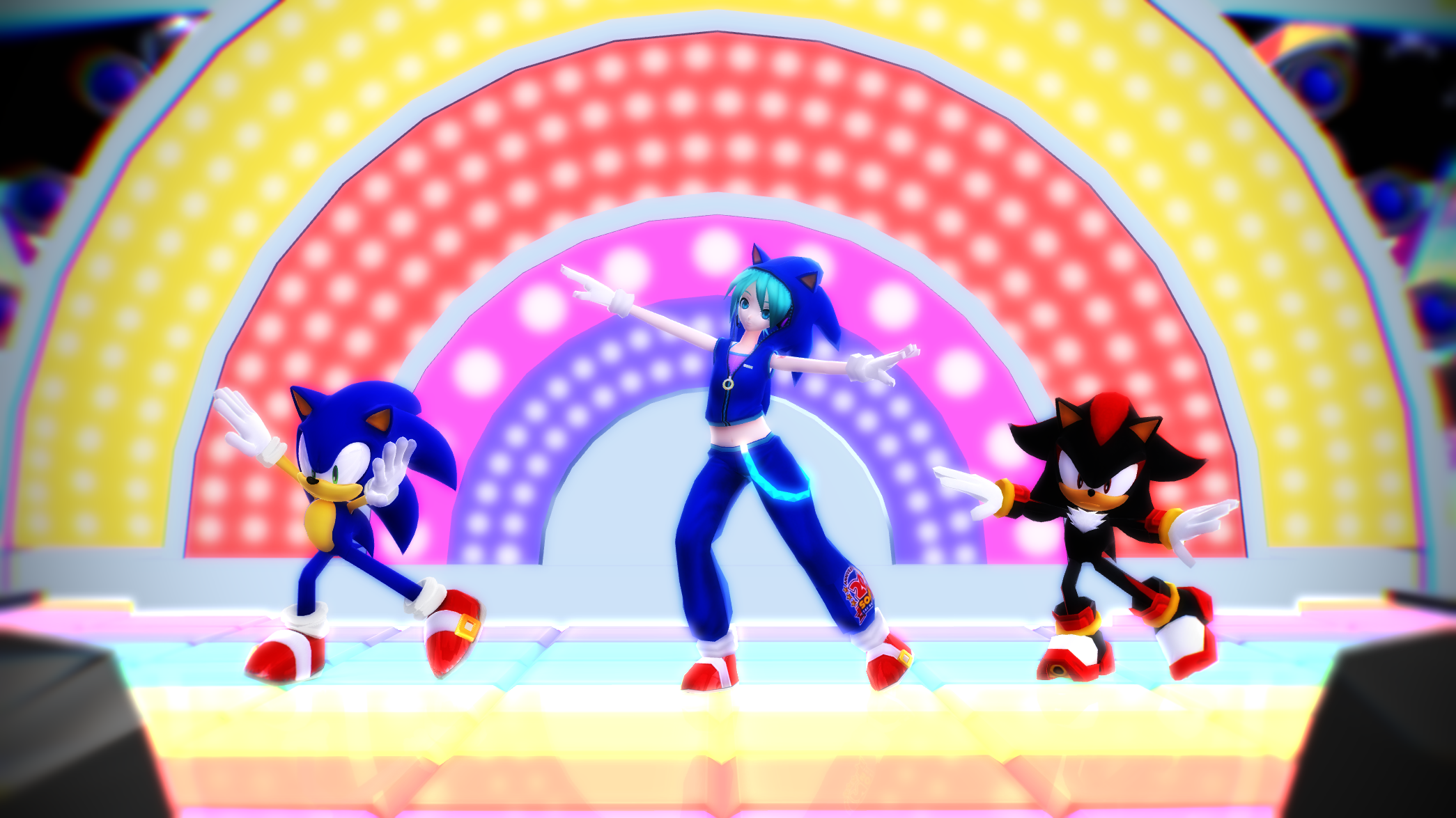 MMD: Miku and Sonic Electric Angel by BluexBlur