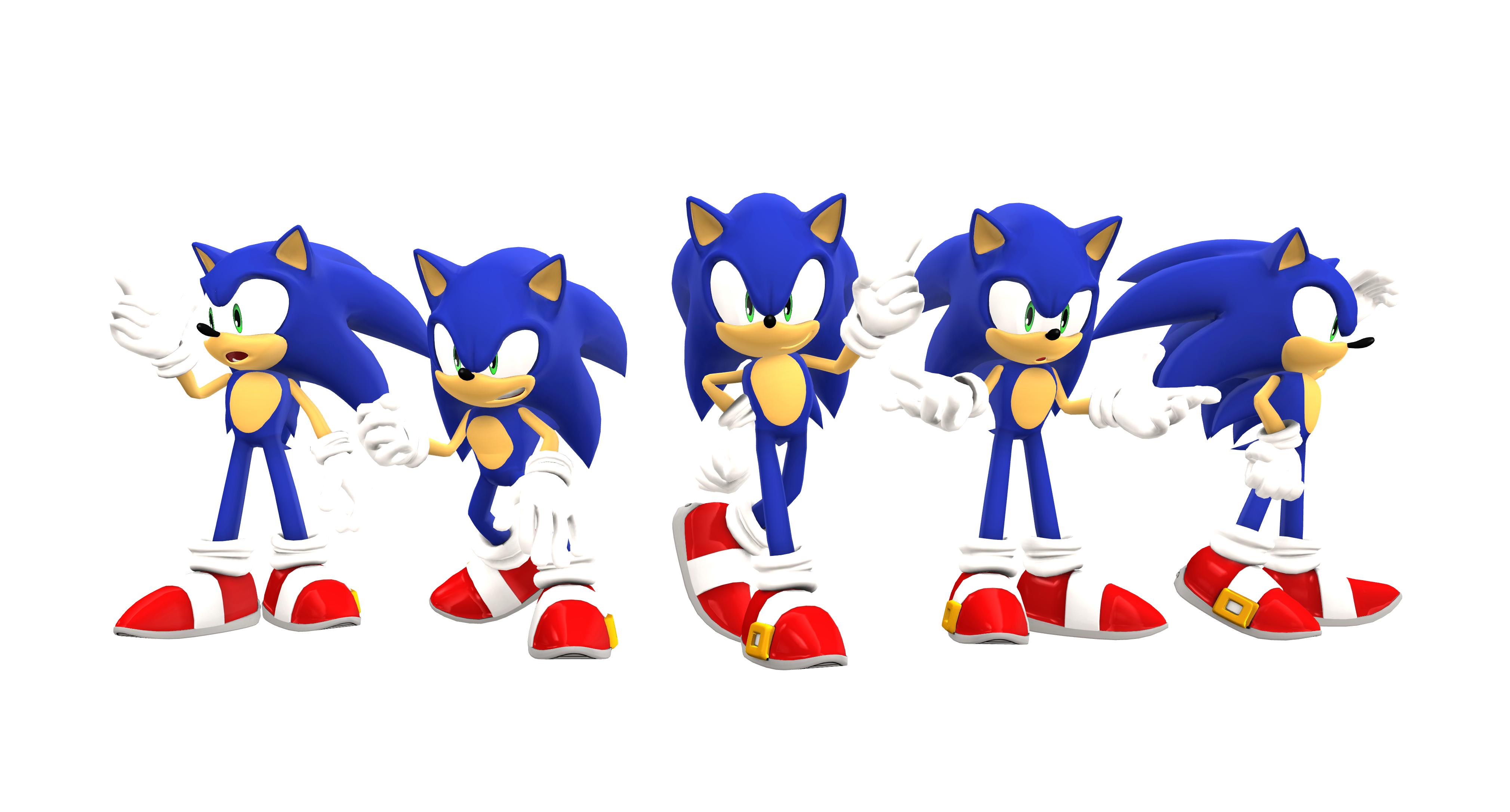MMD: Sonic Poses by BluexBlur on DeviantArt
