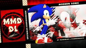 MMD DL: Modern Sonic v1.0 by BluexBlur