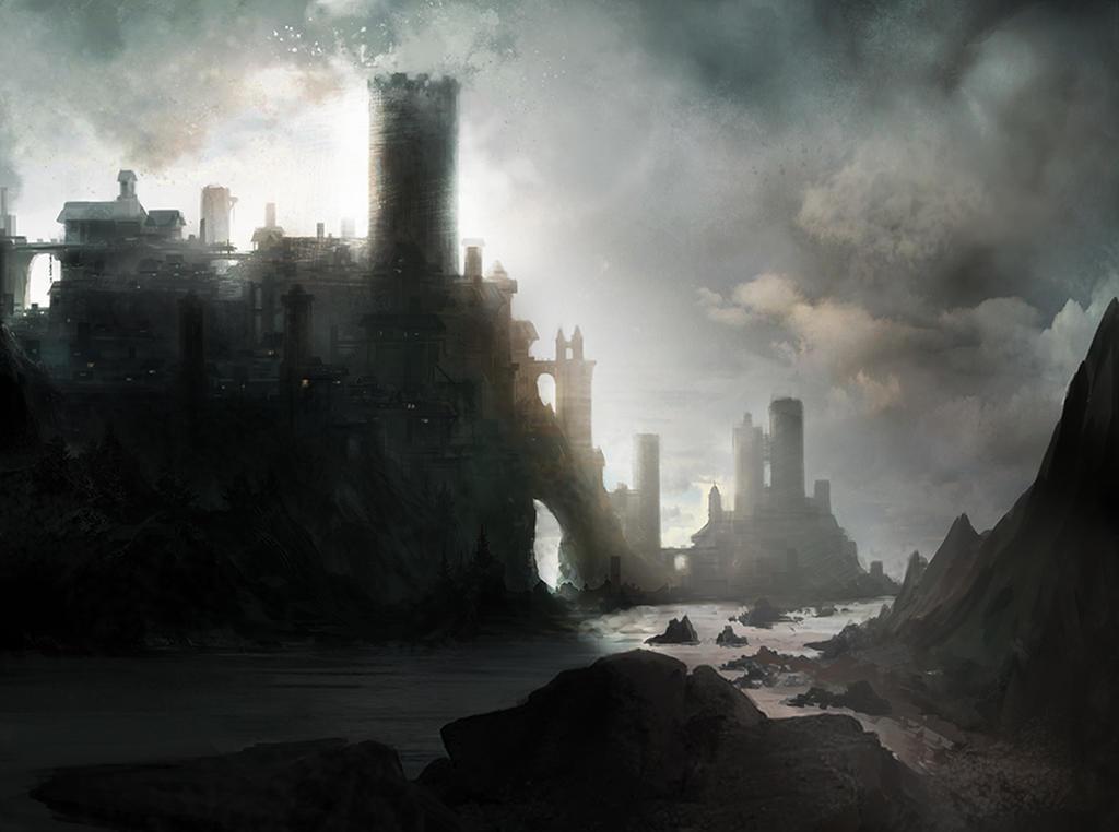 Mankind: The Kingdom of Brandury City_on_the_coast_by_kadejhi-d62v2fz