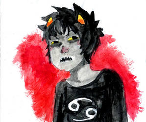 Karkat water colour by Go2-Chan